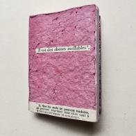 IL EST DES CHOSES INEFFABLES, FRAGMENTS, 2017 d'après Morceaux choisis des auteurs français, César Santelli - Librairie Delagrave 1935
